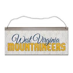 WVU Script Tin Sign